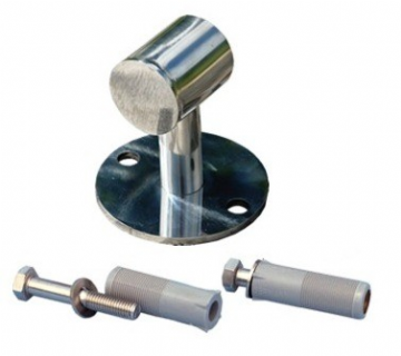 Certikin Handrail - Stainless Steel Closed Bracket with Fixings (CK76CN)